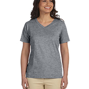 Ladies' Combed Ringspun Jersey V-Neck T-Shirt