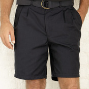 Pleated Front Shorts