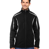 Men's Enzo Colorblocked Three-Layer Fleece Bonded Soft Shell Jacket