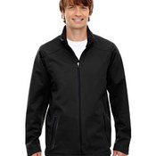Men's Splice Three-Layer Light Bonded Soft Shell Jacket with Laser Welding