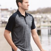 Golf Heather Colorblock Polo