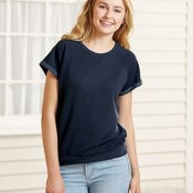 Women's Sweetheart French Terry Short Sleeve Pullover