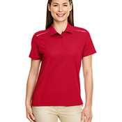 Ladies' Radiant Performance Piqué Polo with Reflective Piping