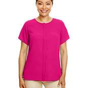 Ladies' Perfect Fit™  Short-Sleeve Crepe Blouse