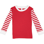 Infant Long-Sleeve Baby Rib Pajama Top