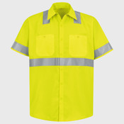 High Visibility Safety Short Sleeve Work Shirt Tall Sizes