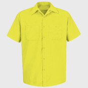 Enhanced Visibility Short Sleeve Work Shirt Tall Sizes