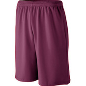 Long Length Wicking Mesh Athletic Short