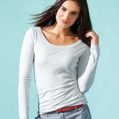 Ladies' Triblend Long Sleeve Scoop