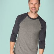 Unisex Tri-Blend Three-Quarter Sleeve Baseball Raglan Tee